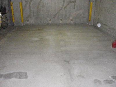 駐車場ライン引き完了