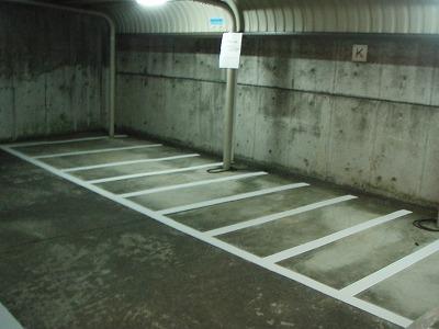 駐輪場ライン引き完成