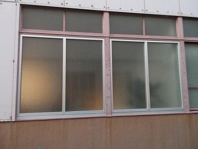 FIX窓枠工事完了