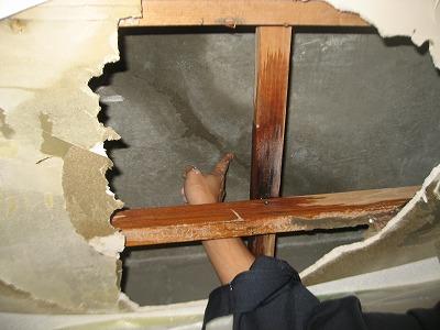 天井調査クラック