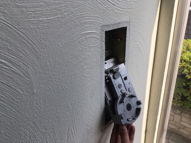 排煙窓レバー分解