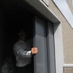 鋼製扉からアルミサッシ